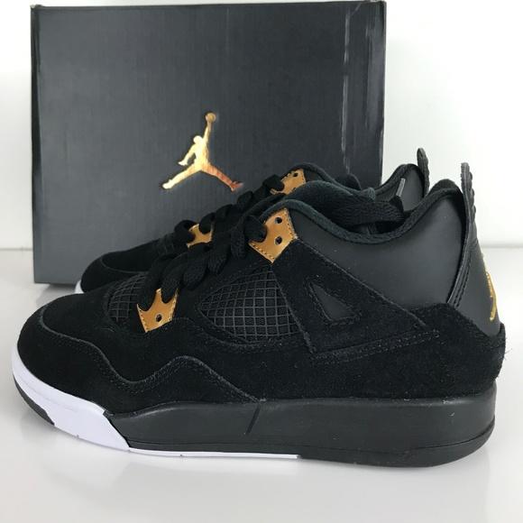 separation shoes 2cc7b 1e137 Nike Air Jordan 4 Retro BP Mid Black Metallic Gold